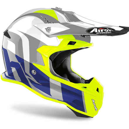 Casco Terminator Open Vision Shoot blu gloss Airoh