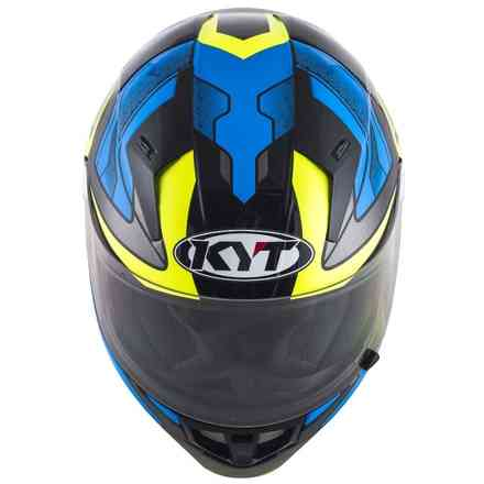 Casco Thunderflash Bolt Blu/giallo KYT
