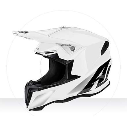 Casco Twist Color white gloss Airoh