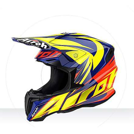 Casco Twist Evil blue gloss Airoh