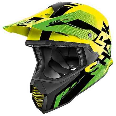 Casco Varial Anger Giallo-nero-verde Shark