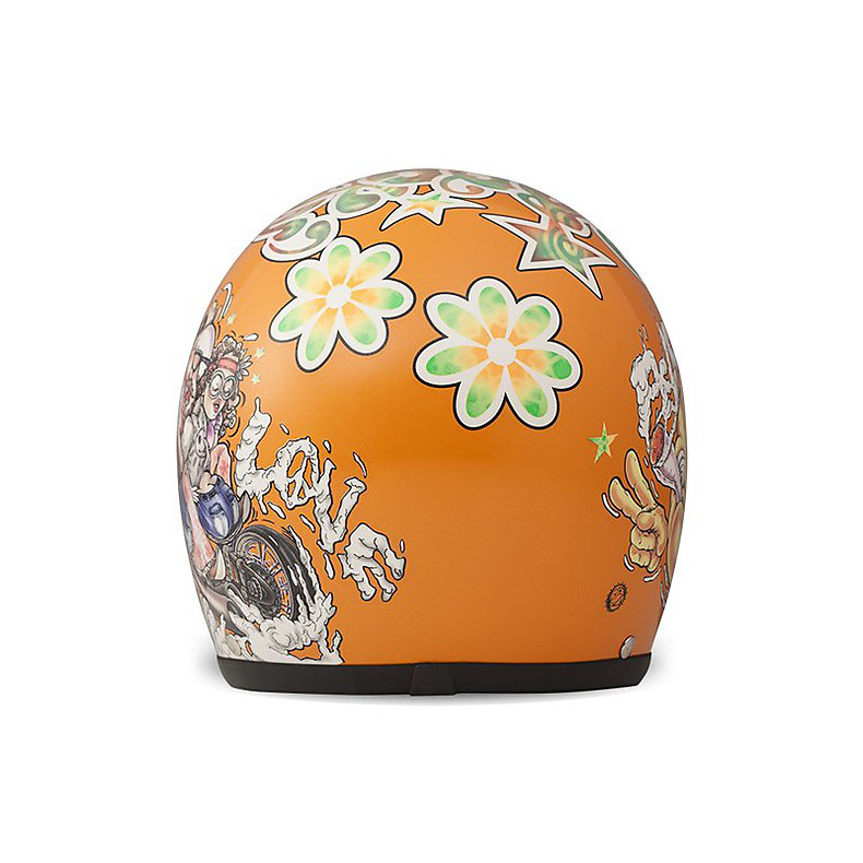 Casco Vintage Rock N Roll Arancio DMD