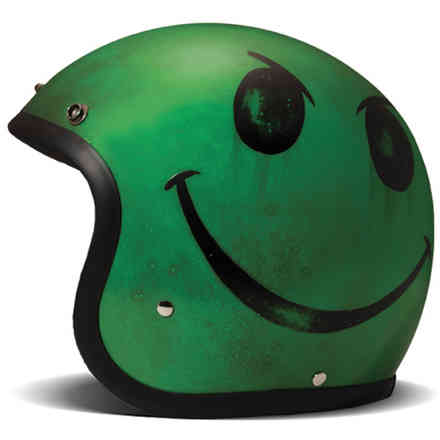 Casco Vintage Smile Acid Verde DMD