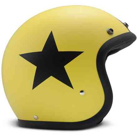 Casco Vintage Star giallo DMD