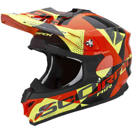Casco VX-15 Evo Air Akra nero-arancio-giallo Scorpion
