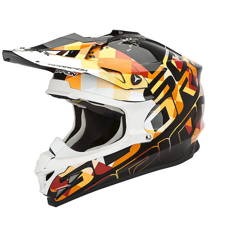 Casco VX-15 Evo Air Grid Nero-Arancio Scorpion