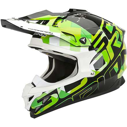 Casco VX-15 Evo Air Grid Nero-Verde Scorpion