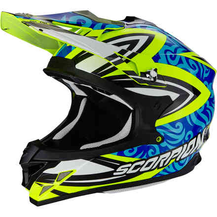 Casco Vx-15 Evo Air Revenge giallo blu Scorpion