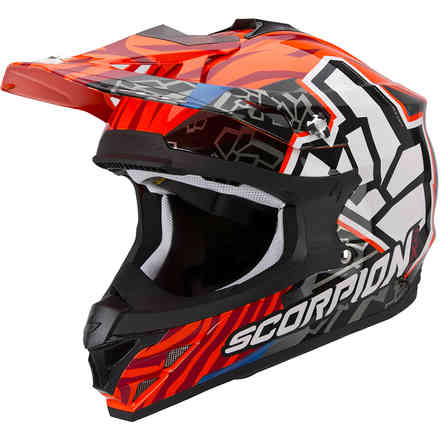 Casco VX-15 Evo Air Rok Bagoros arancio Scorpion