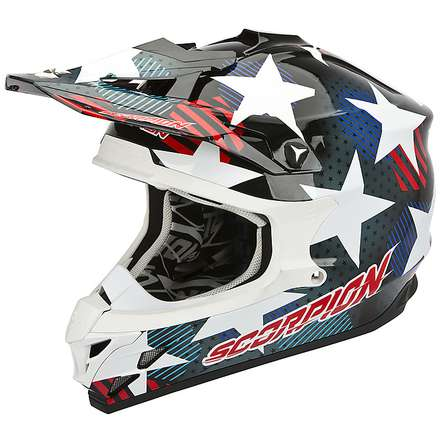 Casco VX-15 Evo Air Stadium Nero-Blu Scorpion