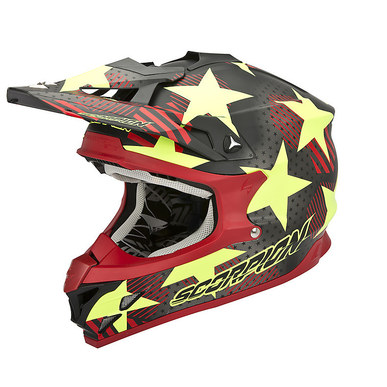 Casco VX-15 Evo Air Stadium Nero-Giallo Fluo Scorpion