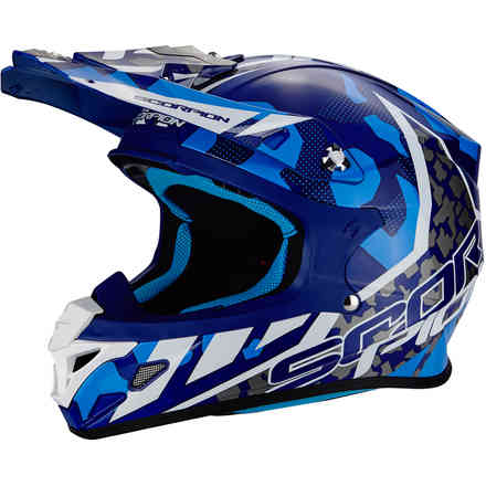 Casco Vx-21 Air Furio blu bianco Scorpion