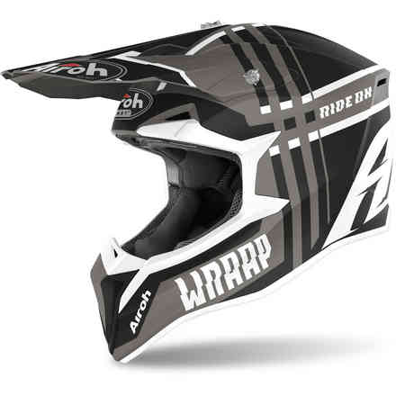 Casco Wraap Broken antracite opaco Airoh