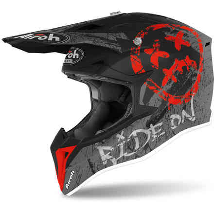 Casco Wraap Smile rosso opaco Airoh