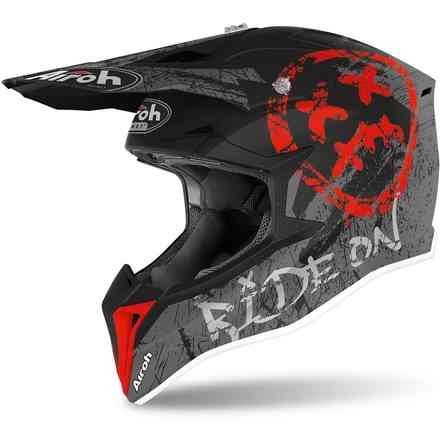 Casco Wraap Youth Smile Rosso Opaco Airoh