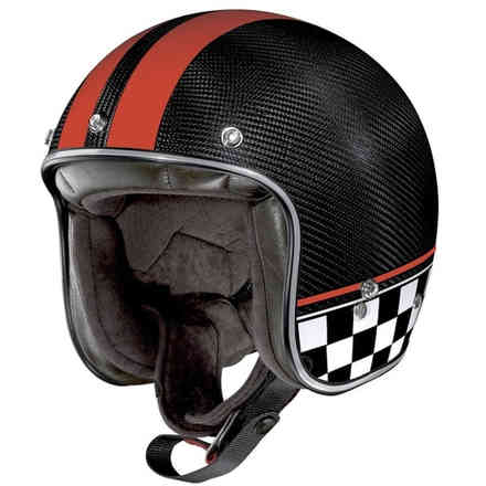 Casco X-201 Ultra Carbon Willow Springs Carbonio Rosso X-lite