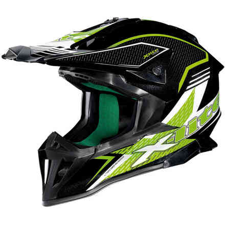 Casco X-502 Backflip verde X-lite