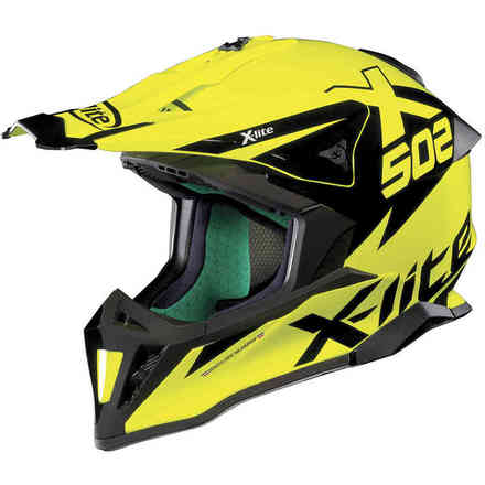 Casco X-502 Matris Led Nero Giallo X-lite