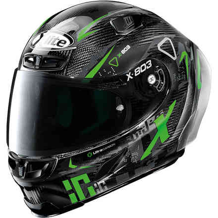 Casco X-803 Rs U.C. Darko Nero Verde X-lite