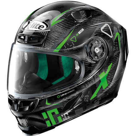 Casco X-803 Ultra Darko Nero Verde X-lite