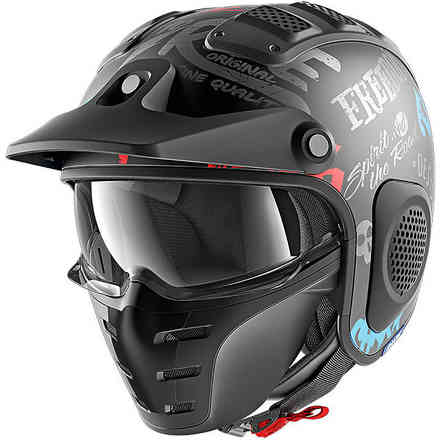 Casco X-Drak Freestyle Nero-antracite-blu Shark