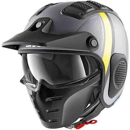 Casco X-Drak Terrence Opaco Antracite-giallo Shark