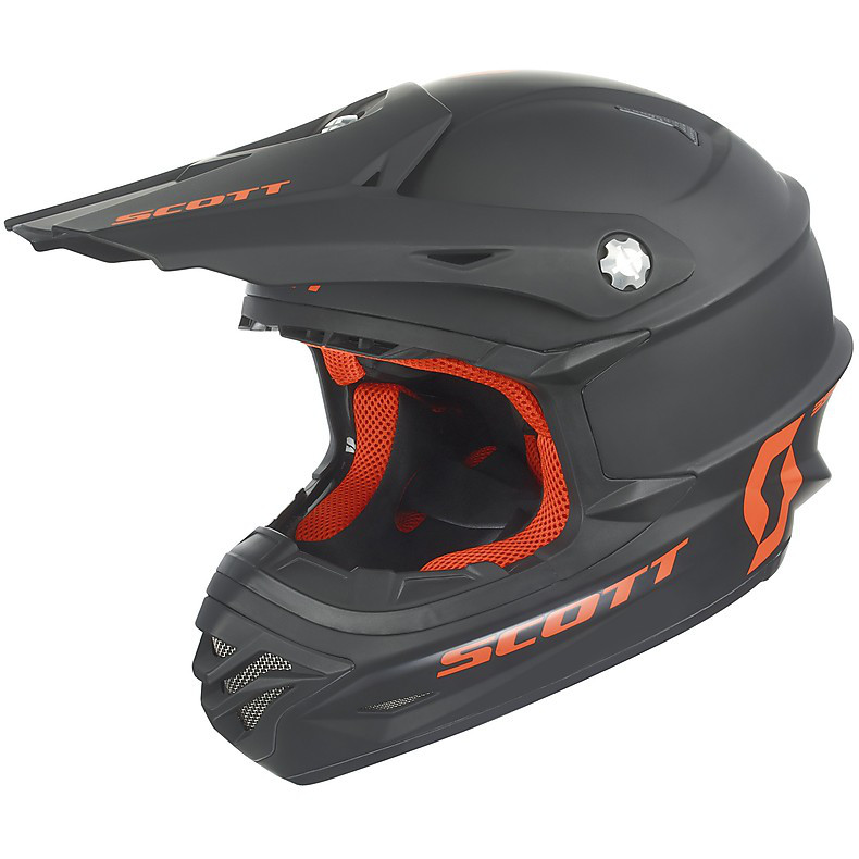 Casque 350 Pro Mono noir mat-orange Scott