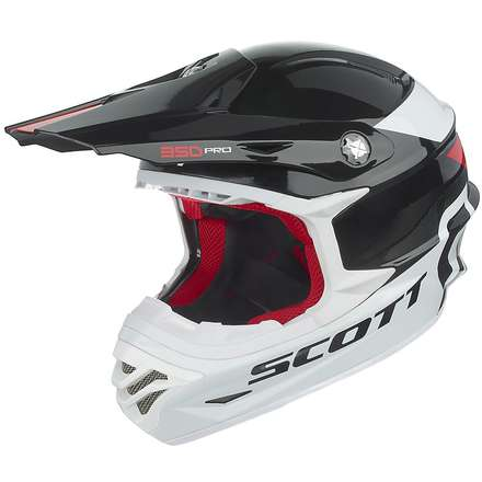 Casque 350 Pro Race noir-rouge Scott