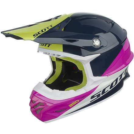 Casque 350 Pro Trophy bleu-rose Scott