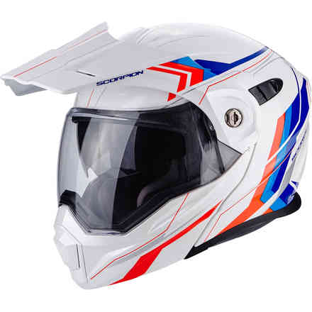 Casque Adx-1 Anima blan rouge bleu Scorpion