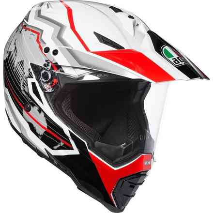 Casque Ax8 Dual Evo Multi Earth blanc-noir-rouge Agv