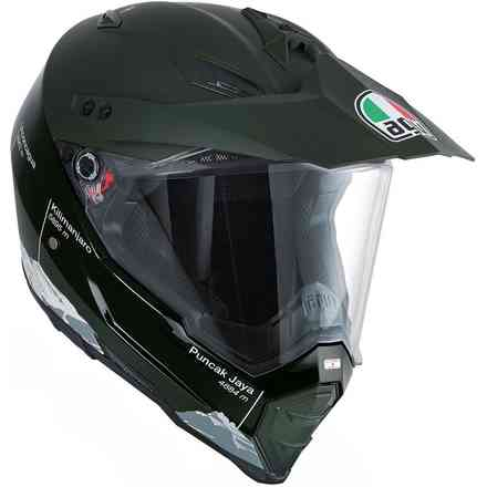 Casque Ax8 Dual Wild Frontier  vert militaire Agv