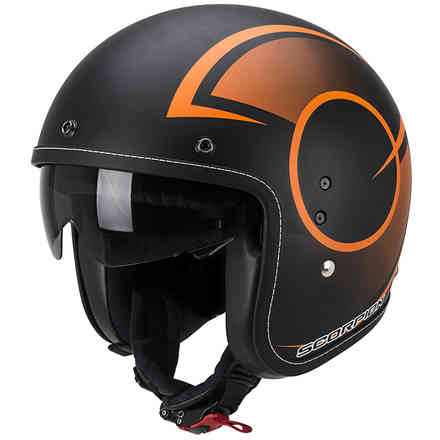 Casque  Belfast Citurban noir-orange matt  Scorpion