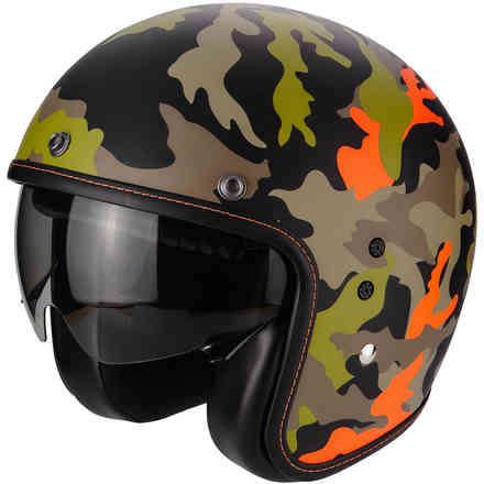 Casque Belfast Mission noir mat orange Scorpion