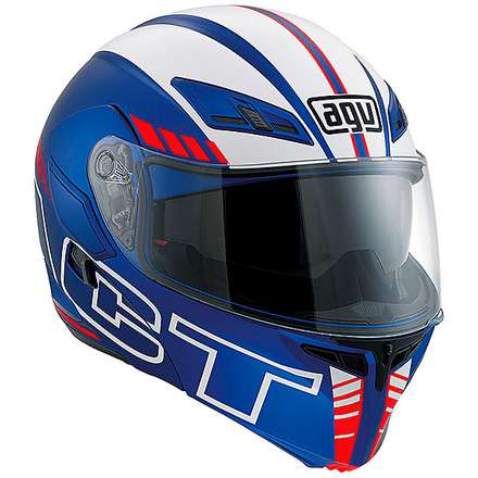 Casque Compact Seattle mat bleu-blanc-rouge Agv