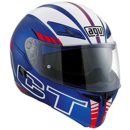 Casque Compact St Seattle Matt bleu blanc rouge Agv