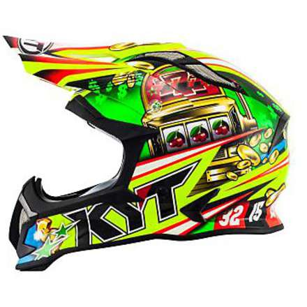 Casque Cross Strike Eagle Roulette KYT