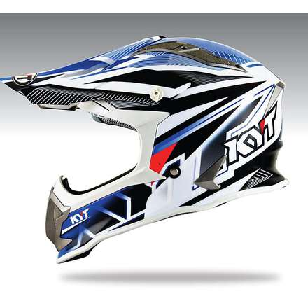 Casque Cross Strike Eagle Stripe bleu KYT