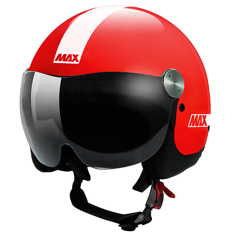 Casque D-Jet Roadie rouge brillant MAX - Helmets
