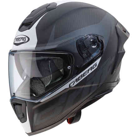 Casque Drift Evo Carbon Matt Antracite blanc  Caberg