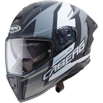 Casque Drift Evo Speedster Matt noir antracite blanc Caberg