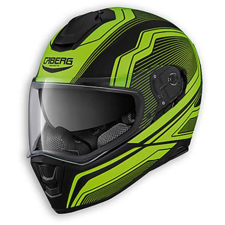 Casque Drift Flux matt black-yellow fluo Caberg