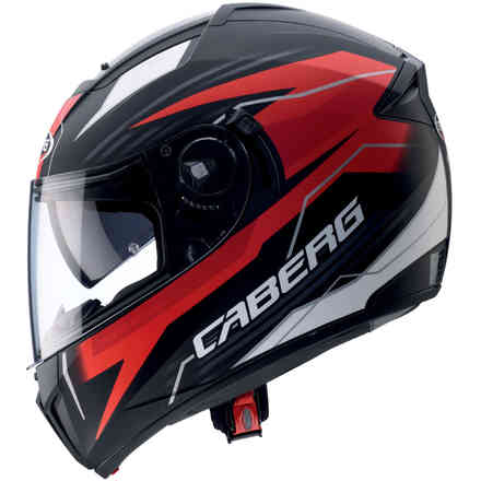 Casque Ego Quartz matt noir rouge antracite Caberg
