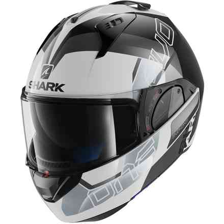 Casque Evo-One 2 Slasher Blanc / Noir / Argent Shark