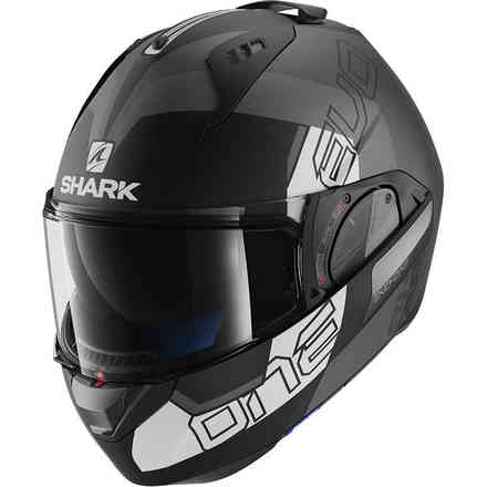 Casque Evo-One 2 Slasher Mat Noir mat / Anthracite / Blanc Shark