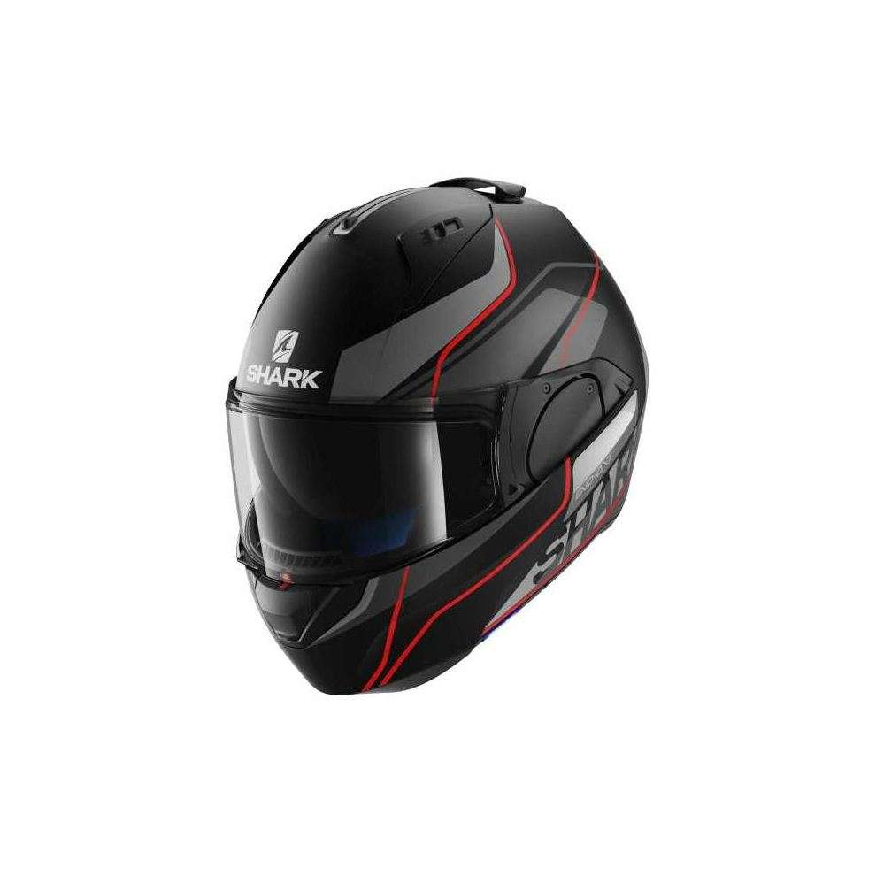 Casque Evo-One Krono Mat noir-rouge Shark