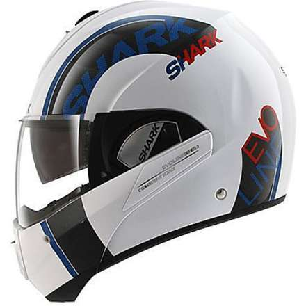 Casque Evoline 3 Drop blanc-bleu-rouge Shark