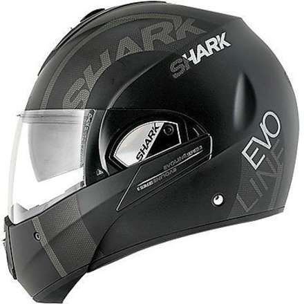 Casque Evoline 3 Drop Mat Shark