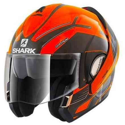 Casque Evoline 3 Hataum H.V. Orange Shark
