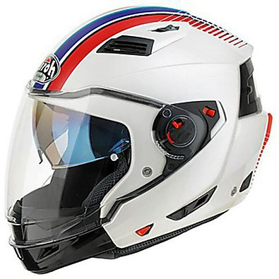 Casque Executive Stripes blanc Airoh